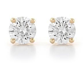 White Lab-Grown Diamond 14K Yellow Gold Stud Earrings 1.00ctw