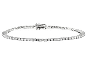 White Lab-Grown Diamond 14K White Gold Bracelet 3.00ctw