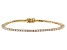 White Lab-Grown Diamond 14K Yellow Gold Bracelet 3.00ctw