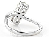 White Lab-Grown Diamond 14K White Gold 2-Stone Ring 2.00ctw