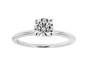 White Lab-Grown Diamond 14K White Gold Solitaire Ring 1.00ctw