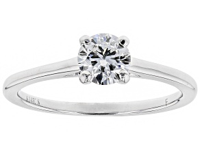 White Lab-Grown Diamond 14K White Gold Solitaire Ring .50ctw