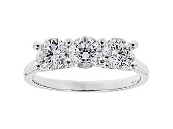 Picture of White Lab-Grown Diamond 14K White Gold 3-Stone Ring 1.50ctw