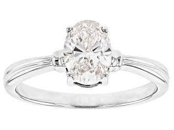 Picture of White Lab-Grown Diamond 14K White Gold Solitaire Ring 1.00ctw
