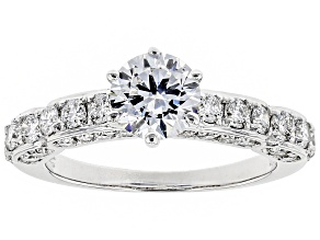 White Lab-Grown Diamond 14K White Gold Ring 1.72ctw