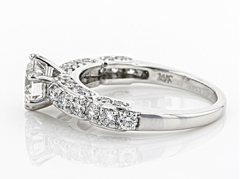 White Lab-Grown Diamond 14K White Gold Engagement Ring 1.72ctw