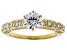 White Lab-Grown Diamond 14K Yellow Gold Engagement Ring 1.69ctw