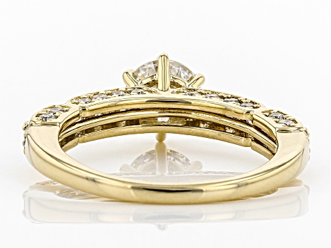 White Lab-Grown Diamond 14K Yellow Gold Ring 1.69ctw