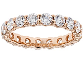White Lab-Grown Diamond 14k Rose Gold Band Ring 2.70ctw