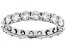 White Lab-Grown Diamond 14K White Gold Eternity Band Ring 2.70ctw