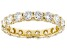 White Lab-Grown Diamond 14k Yellow Gold Eternity Band Ring 2.70ctw