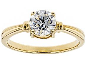 White Lab-Grown Diamond 14K Yellow Gold Ring 1.00ctw