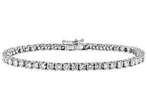 White Lab-Grown Diamond 14K White Gold Bracelet 5.50ctw