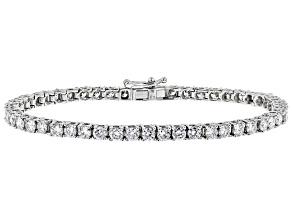 White Lab-Grown Diamond 14K White Gold Bracelet 5.50ctw