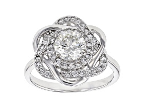 White Lab-Grown Diamond 14K White Gold Ring 1.39ctw
