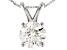 White Lab-Grown Diamond 14K White Gold Pendant 1.00ctw