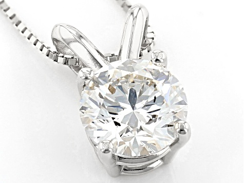 White Lab-Grown Diamond 14K White Gold Pendant 1.00ctw