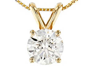 White Lab-Grown Diamond 14K Yellow Gold Pendant 1.00ctw