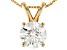 White Lab-Grown Diamond 14K Yellow Gold Pendant 1.00ctw