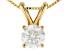 White Lab-Grown Diamond 14K Yellow Gold Pendant 0.50ctw