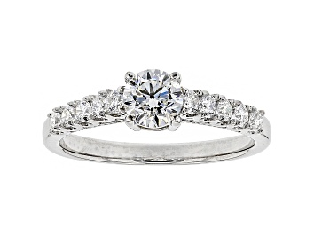 Picture of White Lab-Grown Diamond 14K White Gold Engagement Ring .80ctw