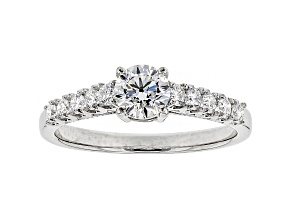 White Lab-Grown Diamond 14K White Gold Engagement Ring .80ctw