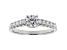 White Lab-Grown Diamond 14K White Gold Engagement Ring .80ctw