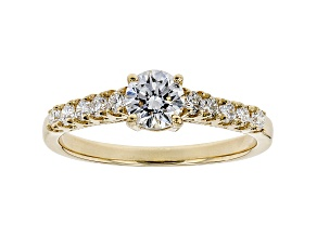 White Lab-Grown Diamond 14K Yellow Gold Engagement Ring .80ctw