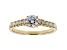 White Lab-Grown Diamond 14K Yellow Gold Engagement Ring .80ctw