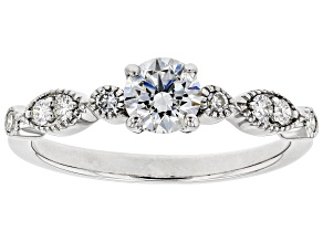 White Lab-Grown Diamond 14K White Gold Ring .70ctw