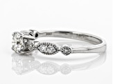 White Lab-Grown Diamond 14K White Gold Engagement Ring .70ctw