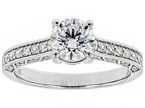 White Lab-Grown Diamond 14K White Gold Ring 1.43ctw