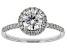 White Lab-Grown Diamond 14K White Gold Ring 1.29ctw