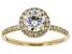 White Lab-Grown Diamond 14K Yellow Gold Ring 1.29ctw