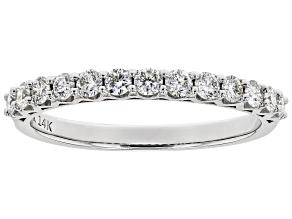 White Lab-Grown Diamond 14K White Gold Ring 0.46ctw