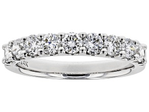 White Lab-Grown Diamond 14K White Gold Band Ring 0.90ctw
