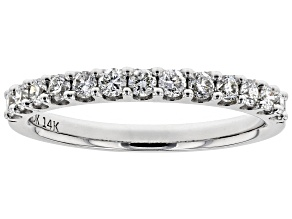 White Lab-Grown Diamond 14K White Gold Ring 0.45ctw