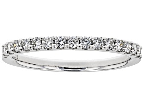 White Lab-Grown Diamond 14K White Gold Ring 0.30ctw
