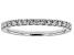 White Lab-Grown Diamond 14K White Gold Ring 0.30ctw