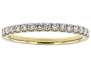 Picture of White Lab-Grown Diamond 14K Yellow Gold Ring 0.30ctw