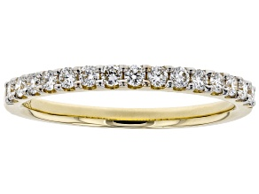 White Lab-Grown Diamond 14K Yellow Gold Ring 0.30ctw