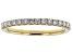 White Lab-Grown Diamond 14K Yellow Gold Ring 0.30ctw