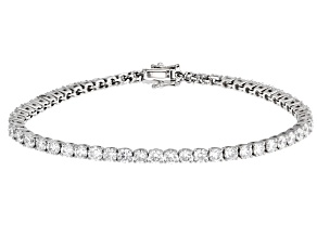 White Lab-Grown Diamond 14K White Gold Bracelet 5.70ctw