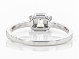 White Lab-Grown Diamond 14K White Gold Ring 0.52ctw