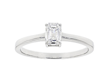 Picture of White Lab-Grown Diamond 14K White Gold Ring 0.50ct
