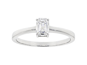 White Lab-Grown Diamond 14K White Gold Ring 0.50ct