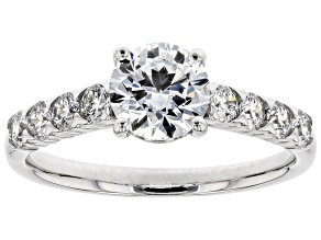 White Lab-Grown Diamond 14K White Gold Engagement Ring 1.52ctw