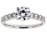 White Lab-Grown Diamond 14K White Gold Ring 1.52ctw