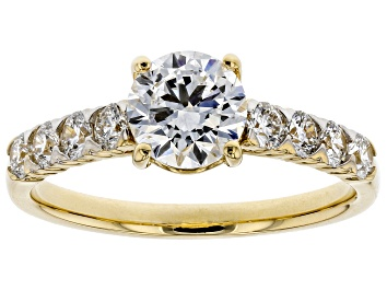Picture of White Lab-Grown Diamond 14K Yellow Gold Engagement Ring 1.52ctw