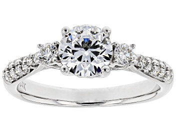 Picture of White Lab-Grown Diamond 14K White Gold Engagement Ring 1.37ctw